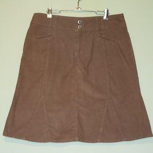 Maurices | Brown Corduroy Skirt 13/14
